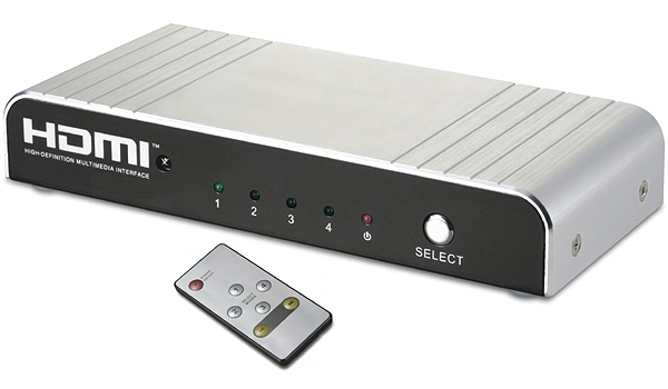 AITech HDMI 4-Port Switch  Automatic Switch with Remote  4